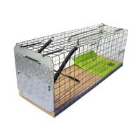 Клетка - крысоловка металлическая на деревянной основе